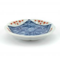 Small Japanese ceramic plate with vegetable spirals - SHOKUBUTSU