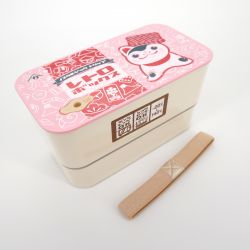 Japanese lunch box L, FUKUINU, pink