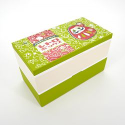 Large japanese lunch box, FUKUDARUMA, green