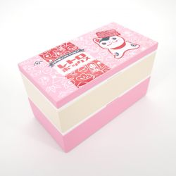 Large japanese lunch box, FUKUINU, pink