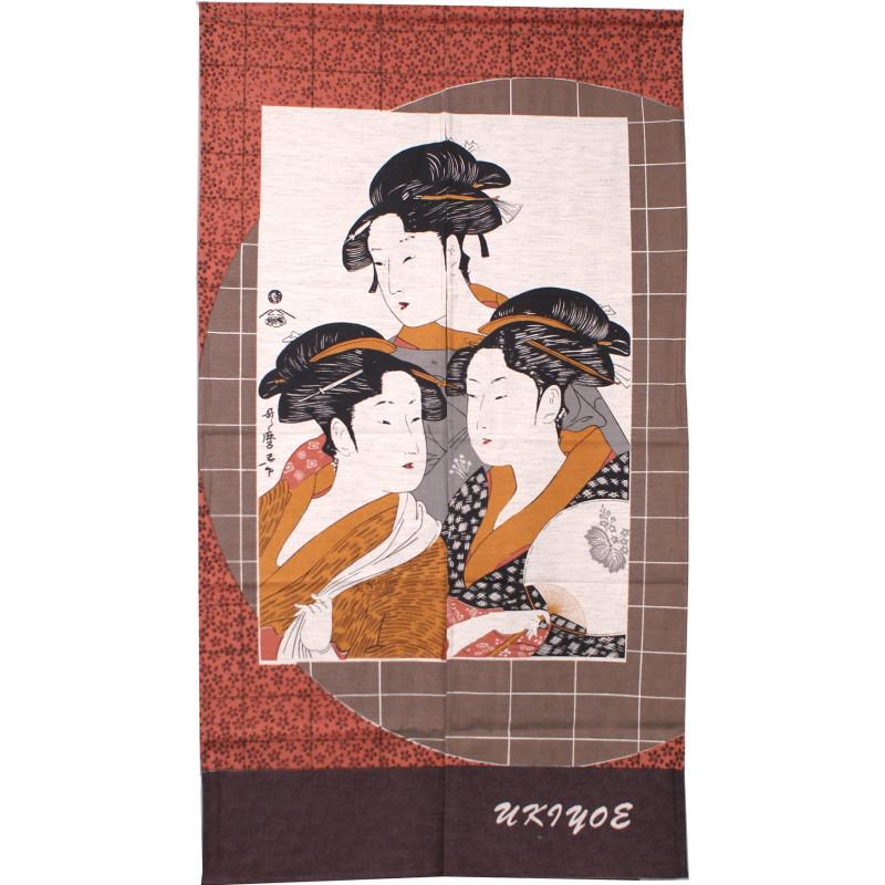 sake service 1 bottle and 2 cups, FURUKI UME, plum blossoms