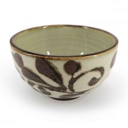 Japanese donburi bowl in beige and brown ceramic - SHIZEN
