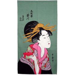 sake service 1 bottle and 2 cups, MANEKINEKO, cat