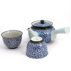 Japanese small square black plate with hand painted gilding - MOMIJI SAKURA