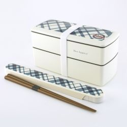 rectangular japanese lunch box, SHOKUYOKU GAI , White