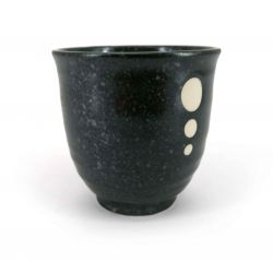 Japanese ceramic tea cup, black - POINTO