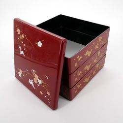 Large japanese lunch box, USAGI, red