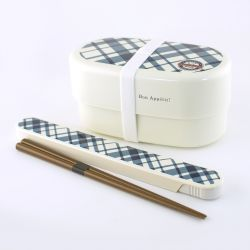 Oval japanese lunch box, SHOKUYOKU GAI , White