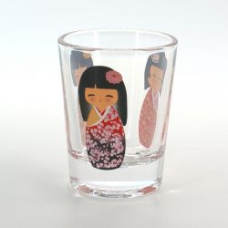 shot glass with pictures  COMIC KOKESHI