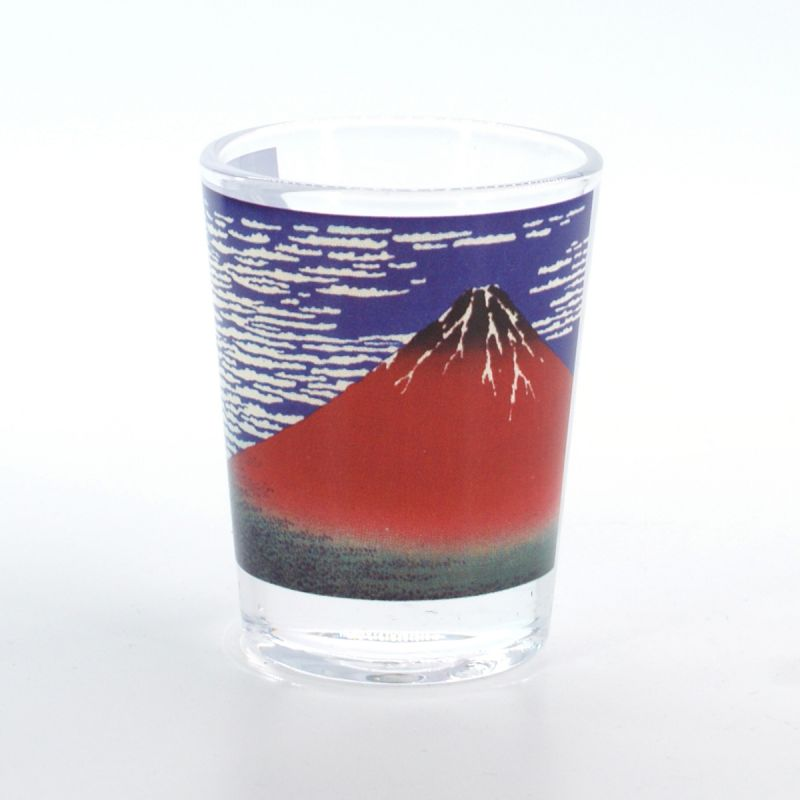 shot glass with fujisan pictures  GAIFÛKAISEI