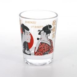 shot glass with pictures  UTAMARO
