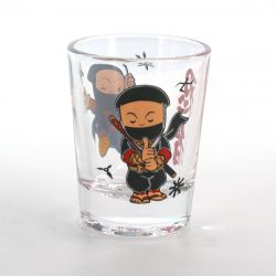 shot glass with pictures  COMIC NINJA