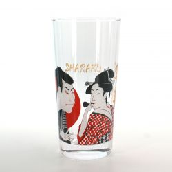 tumbler glass with pictures  UTAMARO