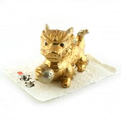 Cuenco donburi de cerámica japonesa, negro, pintura infundida verde / azul - CHUNYU