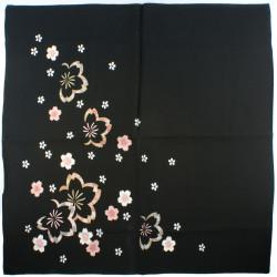 Vaso giapponese soliflore, blu, linee verticali bianche - GYO