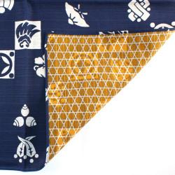 Japanese ceramic ramen bowl, blue and white, various floral patterns - IROIRONA HANA