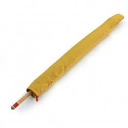 Grande vaso in ceramica giapponese, cestino marrone, motivi floreali - HANA