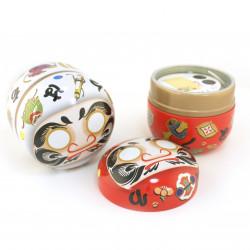 Taza de té de cerámica con platillo, azul y flores - HANA CHIDORI