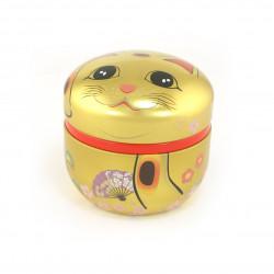 Tasse à thé en céramique avec soucoupe, blanc et oiseau bleu - AOI CHIDORI
