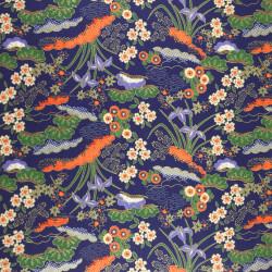 Japanese ceramic tea cup, beige, green infused paint - FUKISOKU