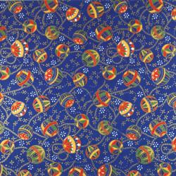 Taza de té de cerámica japonesa, pétalos blancos y azules - AOI HANABIRA