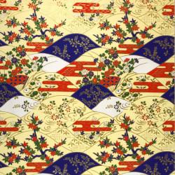 Tasse à thé japonaise en céramique, blanc, rouge et points verts - POINTU