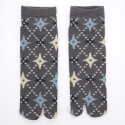 japanese cotton tabi socks, SHURIKENKOHSHI, grey