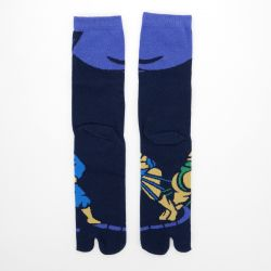 japanese cotton tabi socks, SUMO, blue