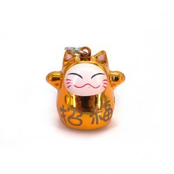 color choice japanese lucky cat key chain in ceramic H2,5cm MANEKINEKO