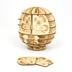 Puzzle madera arte Daruma,...