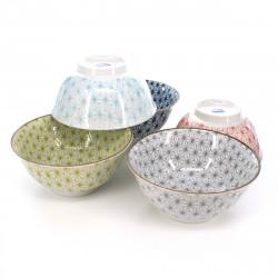Bambola giapponese Kokeshi in legno per bambina con motivo carpa koi - OCHAME