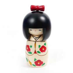 Bambola giapponese Kokeshi in nastro di legno - RIBBON