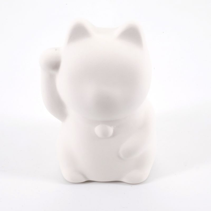 lucky piggy bank in ceramic to paint oneself, PLANE-RIGHT, cat right paw