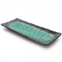 Scatola portaoggetti in resina nera con motivo gru giapponese - SHOKAKU - 18,5 cm