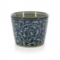 Scatola porta carte giapponese nera in resina con motivo a fiori di ciliegio, NOSHISAKURA, 11x7.5x3cm