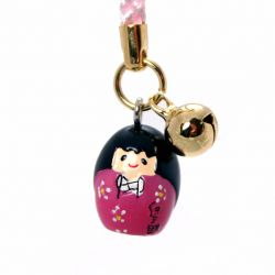 decoration for mobile phone, KOKESHI, resin