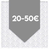 between 20 and 50 euros